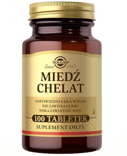 SOLGAR Miedź chelat aminokwasowy 2,5 mg 100 tabletek