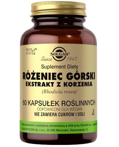 SOLGAR Rhodiola Różeniec górski ekstrakt z korzenia 60 kapsułek Z TYM PRODUKTEM DOSTAWA GRATIS!