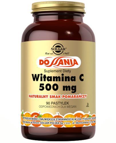 SOLGAR Witamina C 500 mg naturalny smak pomarańczy 90 pastylek do ssania Z TYM PRODUKTEM DOSTAWA GRATIS!