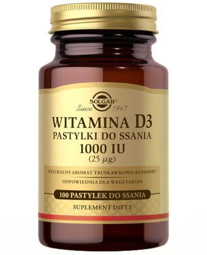SOLGAR Witamina D3 1000 IU (25 µg) 100 pastylek do ssania Z TYM PRODUKTEM DOSTAWA GRATIS!