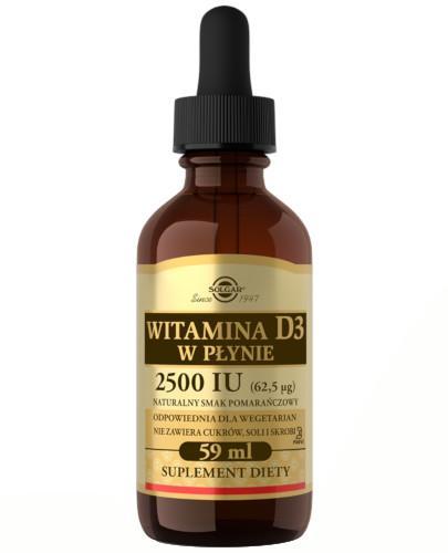 SOLGAR Witamina D3 2500 IU (62,5 µg) płyn 59 ml Z TYM PRODUKTEM DOSTAWA GRATIS!