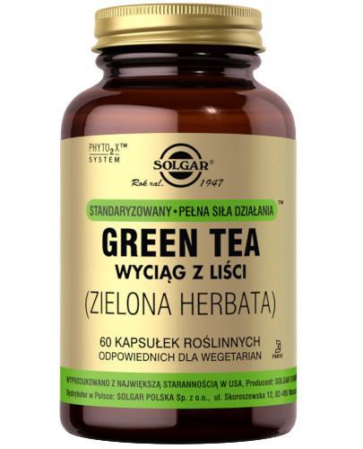 SOLGAR Zielona Herbata wyciąg z liści Green Tea 60 kapsułek Z TYM PRODUKTEM DOSTAWA GRATIS!