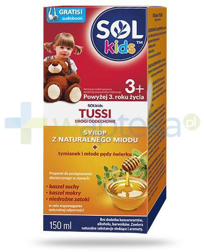 SOLkids Tussi syrop z naturalnego miodu dla dzieci 3+ 150 ml - NIELOT