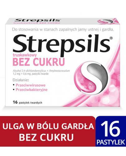 Strepsils Bez cukru 16 pastylek twardych