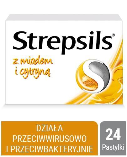 Strepsils z naturalnym miodem i cytryną 24 pastylki twarde