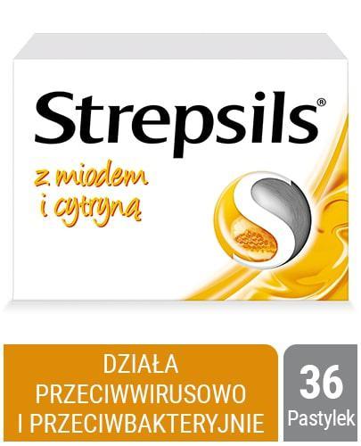 Strepsils z naturalnym miodem i cytryną 36 pastylek twardych