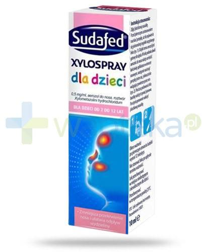 Sudafed Xylospray dla dzieci od 2 do 12 roku życia 10 ml