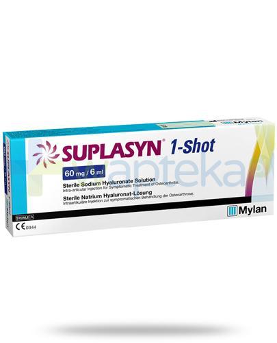 Suplasyn 1-Shot 60mg/6ml kwas hialuronowy do wstrzykiwań dostawowych 1 ampułko-strzykawka