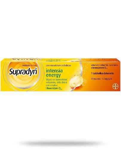 Supradyn Intensia Energy witaminy w zwiększonych dawkach z koenzymem Q10 15 tabletek musujących