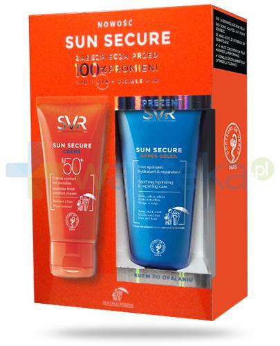 SVR Sun Secure Creme komfortowy krem ochronny SPF50+ dla dzieci i dorosłych 50 ml + SVR Sun Secure Apres Soleil regenerujący krem po opalaniu 50 ml [ZESTAW]
