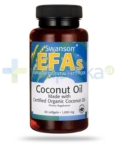 Swanson EFAs Coconut Oil 1000mg 60 kapsułek