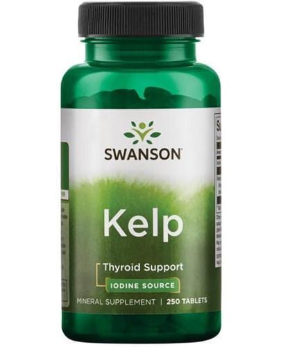 Swanson Kelp jod z alg morskich 250 tabletek