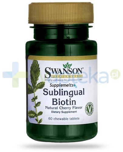 Swanson Sublingual Biotin 60 tabletek do żucia