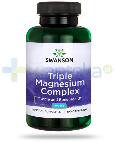 Swanson Triple Magnesium Complex 400mg 100 kapsułek