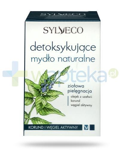 Sylveco detoksykujące mydło naturalne korund i węgiel aktywny 120 g