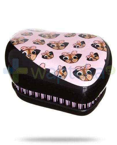 Tangle Teezer Compact Styler Pug Print szczotka do włosów kolor czarny w pieski 1 sztuka