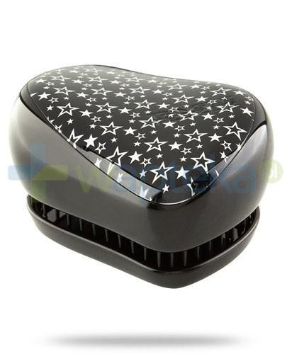 Tangle Teezer Compact Styler Twinkle szczotka do włosów kolor czarny w gwiazdki 1 sztuka