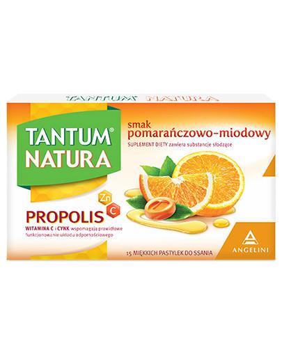 Tantum Natura smak pomarańczowo-miodowy 15 pastylek