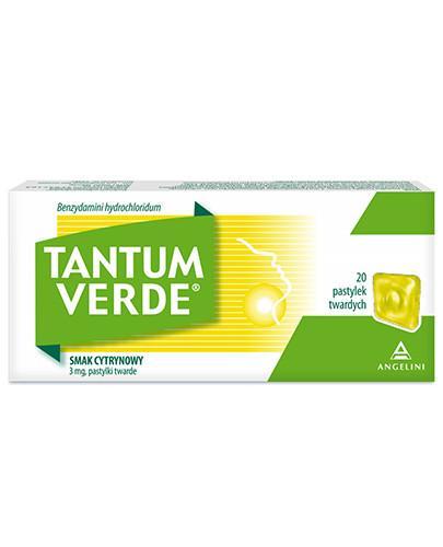 Tantum Verde 3 mg pastylki do ssania smak cytrynowy 20 sztuk