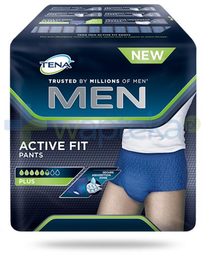 Tena Men Active Fit Pants Plus męskie majtki chłonne rozmiar M 9 sztuk