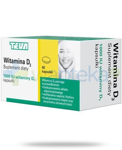 Teva witamina D3 1000j.m. 60 kapsułek