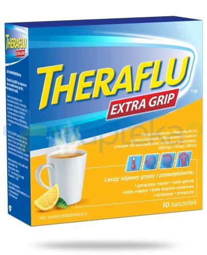 Theraflu Extra Grip smak cytrynowy 10 saszetek