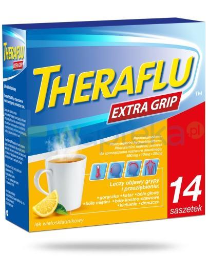 Theraflu Extra Grip smak cytrynowy 14 saszetek
