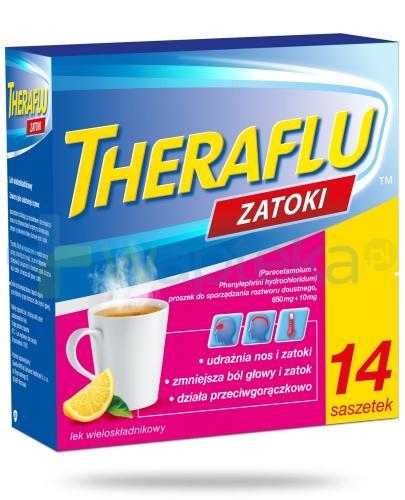 Theraflu Zatoki saszetki na objawy grypy i przeziębienia - 14 sztuk