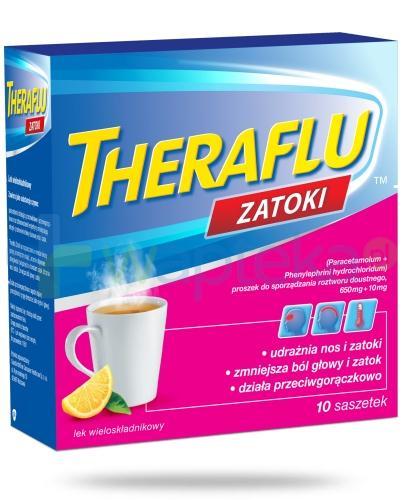 Theraflu Zatoki smak cytrynowy 10 saszetek na przeziębienie i grypę