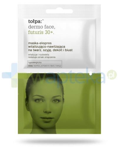 Tołpa dermo face futuris 30+ maska-ekspres witalizująco-nawilżająca na twarz szyję dekolt i biust 2x6 ml