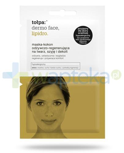 Tołpa Dermo Face Lipidro maska-kokon odżywczo-regenerująca na twarz szyję i dekolt 2x 6 ml