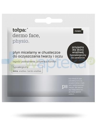 Tołpa Dermo Face Physio Płyn micelarny w chusteczce do oczyszczania twarzy i oczu 3 ml