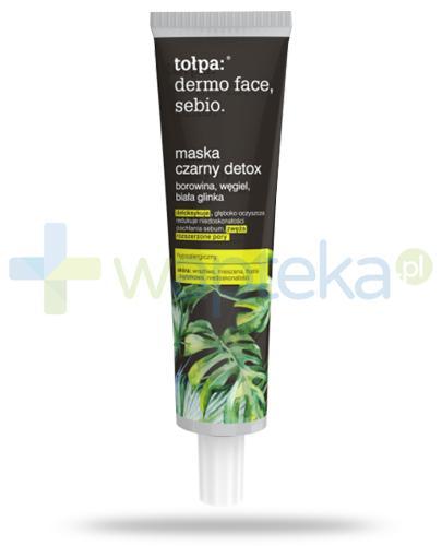Tołpa Dermo Face Sebio maska czarny detox 40 ml