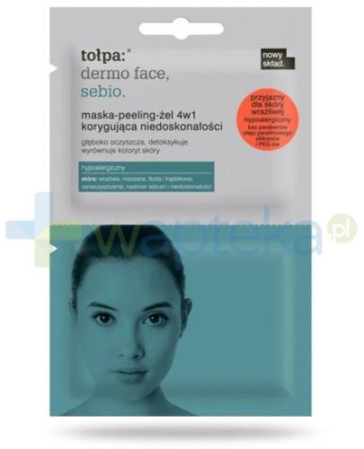 Tołpa Dermo Face Sebio maska-peeling-żel 4w1 korygująca niedoskonałości 2x6 ml