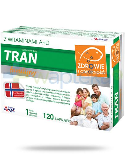 Tran familijny z witaminami A+D 120 kapsułek