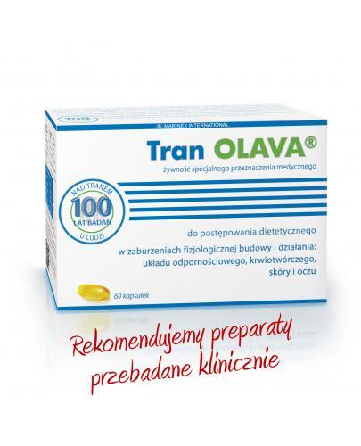 Tran Olava olej z wątroby dorsza 60 kapsułek