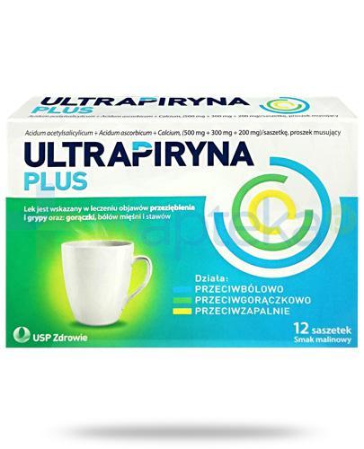 Ultrapiryna Plus, smak malinowy 12 saszetek