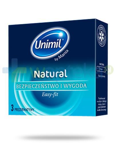 Unimil Natural prezerwatywy 3 sztuki