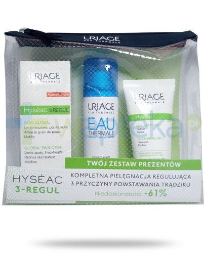 Uriage Hyseac 3-REGUL krem 40 ml + żel oczyszczający 50 ml + woda termalna 50 ml [ZESTAW]
