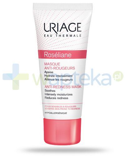 Uriage Roseliane maska nawilżająco wygładzająca do pielęgnacji skóry naczynkowej 40 ml