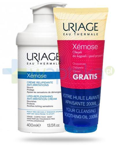Uriage Xemose krem do skóry bardzo suchej 400 ml + Uriage Xemose olejek do kąpieli i pod prysznic 200 ml [ZESTAW]