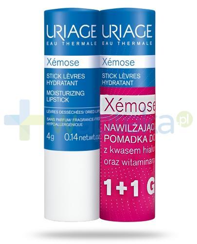 Uriage Xemose nawilżająca pomadka do ust 2x 4 g [DWUPAK]