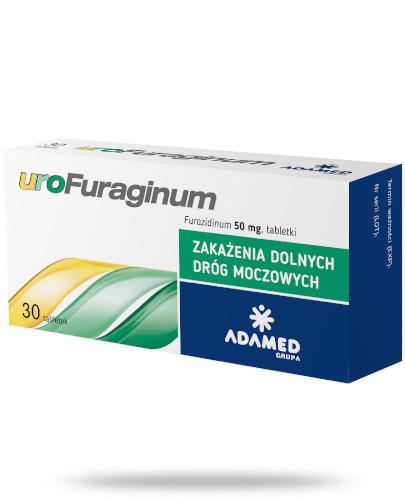 uroFuraginum 50mg leczenie zakażeń dróg moczowych 30 tabletek