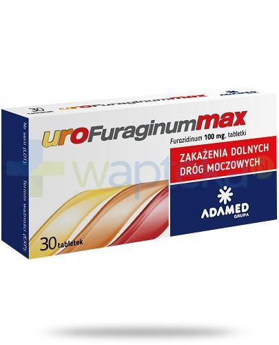 uroFuraginum Max 100mg leczenie zakażeń dróg moczowych 30 tabletek