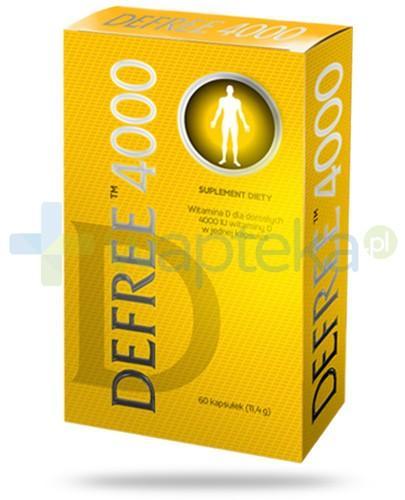 Defree witamina D 4000j.m. dla dorosłych 60 kapsułek