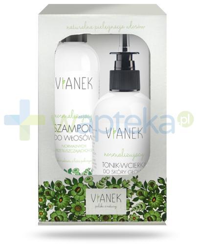 Vianek normalizujący szampon do włosów z ekstraktem z liści pokrzywy 300 ml + Vianek normalizujący tonik wcierka do skóry głowy z ekstraktami pokrzywy, skrzypu, łopianu, szałwi i brzozy 150 ml [ZESTAW]