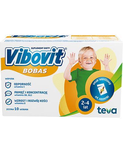 Vibovit Bobas smak waniliowy dla dzieci 2-4 lat 44 saszetki