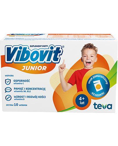 Vibovit Junior smak pomarańczowy dla dzieci 4-12 lat 44 saszetki
