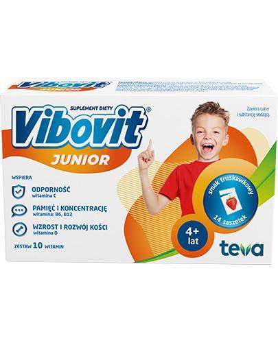Vibovit Junior smak truskawkowy dla dzieci 4-12 lat 14 saszetek