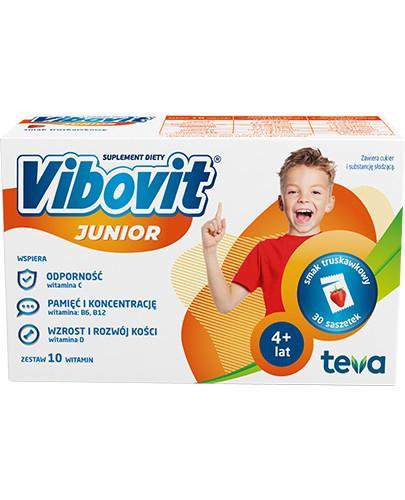 Vibovit Junior smak truskawkowy dla dzieci 4-12 lat 30 saszetek